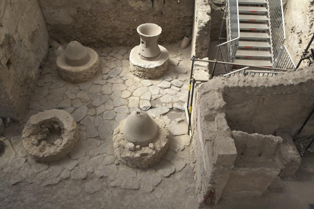 La boulangerie de Pompéi vue d'en haut