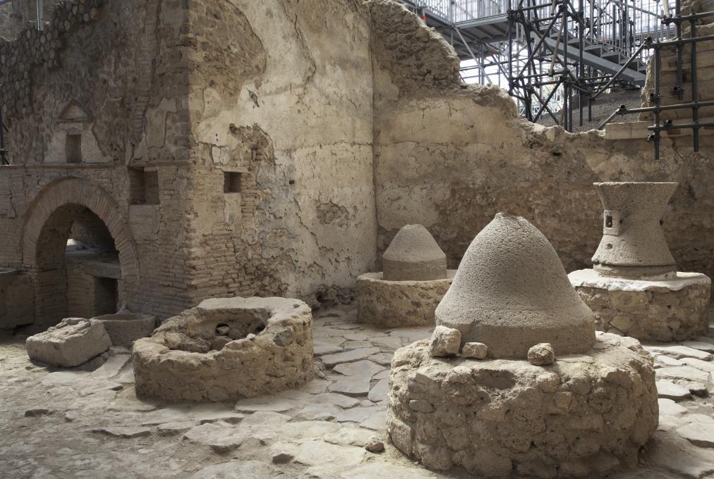 Vue d'ensemble sur la boulangerie de Pompéi