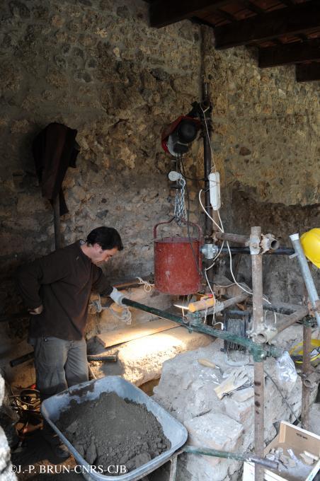 Le puits de la tannerie de Pompéi en 2010